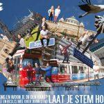 Poster voor Haagse Jongerenambassadeurs. 'Laat je stem horen.'