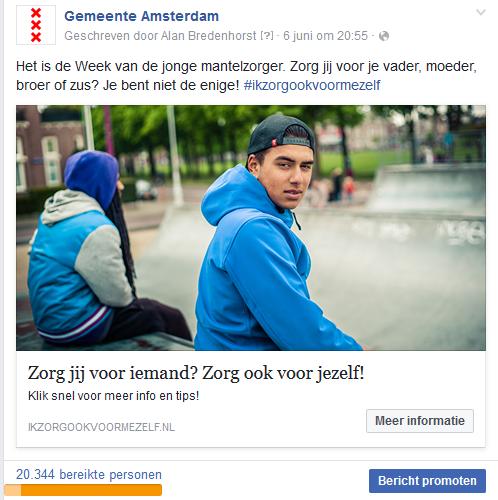Campagne Jonge Mantelzorgers 125Procent